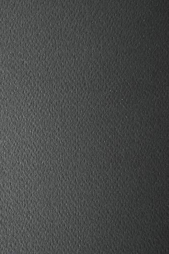 100 Blatt Schwarz 220g Tonkarton einseitig strukturiert DIN A4 210x297 mm Prisma Nero, ideal für Einladungen, Visitenkarten, Diplome, zum Zeichnen, Basteln und Dekorieren