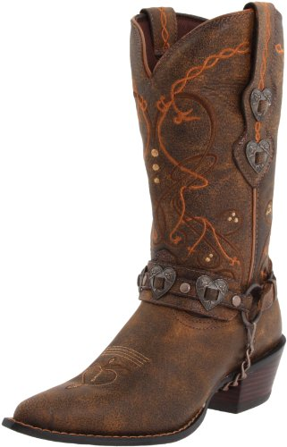 Durango Crush Cowgirl-Frauenstiefel, Braun - Saddle Brown W/Tan & Brown - Größe: Frau 36 EU -