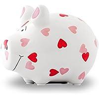 KCG Spardose Schwein Herzchen weiß klein