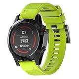 Garmin Fenix 5 Strap,Moeavan Ersatz-Sililicagel Quick Band Strap für Garmin Fenix 5 Multisport GPS Watch (Grün)