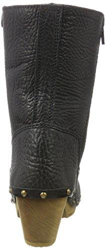 Sanita Damen Pia Block Flex Boot Schlupfstiefel Schwarz (Black 2)