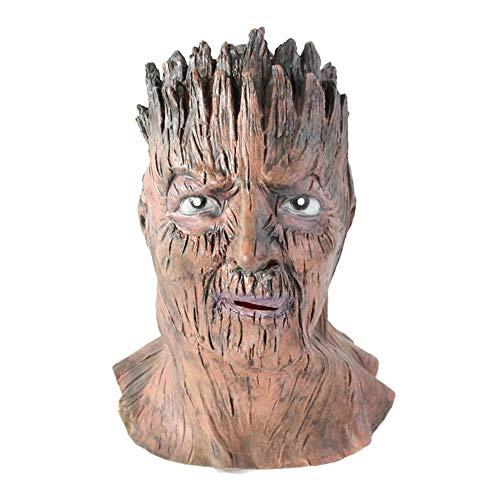 CHENJJ Masken Horror-Baum-Mann-Masken-Kopfbedeckung Lustige for Halloween-Teufel-Sturzhelm-Leistungs-Requisiten Scary Scary (Scary Baum Kostüm)