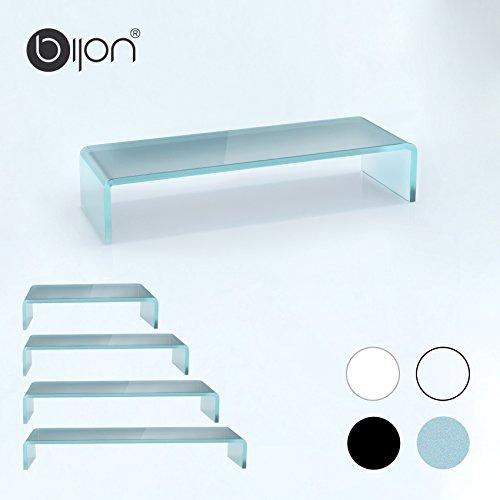 glasshop24 bijon® TV Glasaufsatz Monitor Erhöhung (B/T/H) 700x300x130mm - satin
