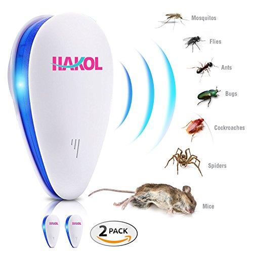 Hakol Conjunto De Repelente De Plagas Ultrasonico Premium - Repelente Electrónico Para Ratones, Ratas, Insectos, Arañas, Chinches, Mosquitos, Hormigas Y Más - 100{46e16bf2059e1ecfa7d1d5cb58949ab21b649e275e7521b86807ada0f07d929c} Seguro Para Humanos Y Mascotas - Bajo Consumo De Energía - Paquete De 6 (2)