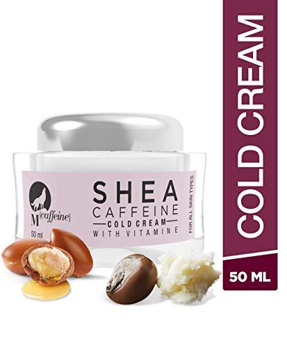 MCaffeine Shea Butter Caffeine Cold Cream, 50 ml with Vitamin E - Paraben Free
