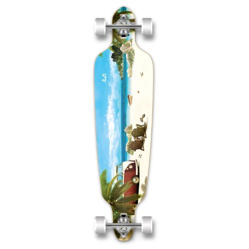 Yocaher Professional Speed Graphic Drop Through Longboard,