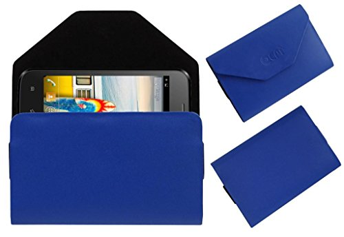 Acm Premium Pouch Case For Micromax Bolt A66 Flip Flap Cover Holder Blue  available at amazon for Rs.329