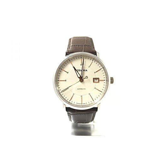 Reloj Rodania Hombre 02508123automático acero quandrante blanco correa piel