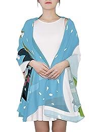 Patrón de cebra, Piel de animal Bufanda de moda única para las mujeres Ligero Moda