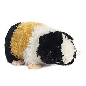 Aurora El Cerdo Guinea World, colección Mini Flopsies; Juguete de Peluche, Colores Negro, Blanco, Naranja y Rosa