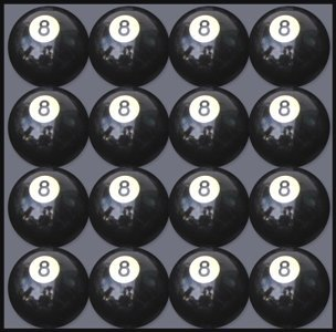 Box of 16 Replacement # 8 Pool Table - Billiard Ball by Iszy Billiards