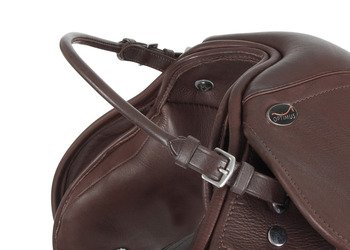 Balancing Straps - Rolled Leather with Buckles Brown