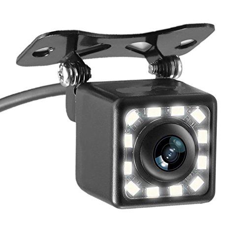 Panlelo 12 LED caméra de vision arrière universel pour stationnement véhicule Rétroviseur caméra étanche de grand angle haute définition vision nocturne full HD