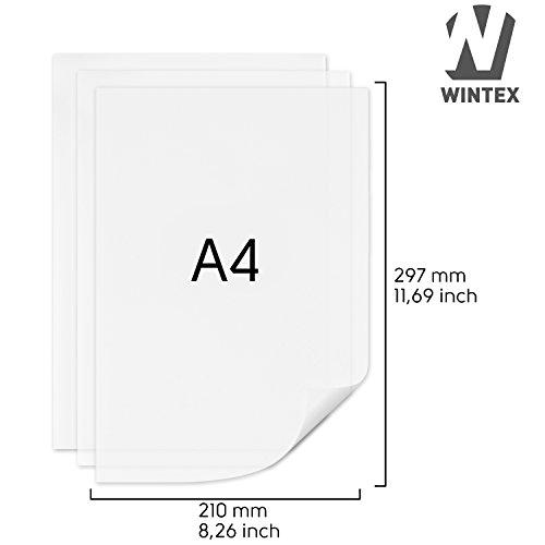 100 Blatt Transparentpapier DIN A4 100 g/qm Super Qualität -