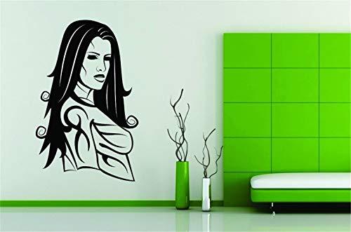 mer Dekor Aufkleber Tattoo Mädchen Frauen Gesicht Haar Frech Art Dekor für Mädchen Schlafzimmer Wohnzimmer ()