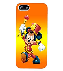 ColourCraft Lovely Cartoon Character Design Back Case Cover for APPLE IPHONE 5S