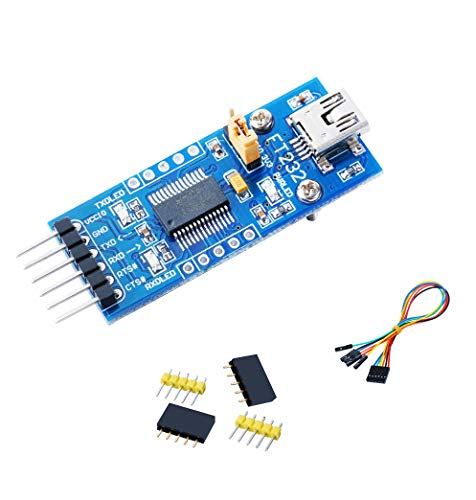 Venel FT232 USB UART Board (Mini) USB to UART Solution with USB Micro Connector Supports Mac, Linux, Android, Wince, 3 Power Mode, 3.3V-5V (Mac Connector)