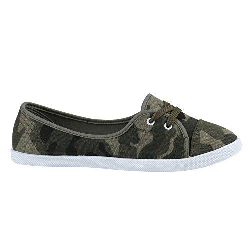 Damen Schuhe Sportliche Ballerinas Camouflage YnvM8Ods00