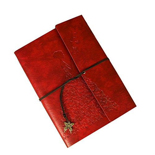 (Sammelalbum Foto Retro Album, Geburtstag Hochzeitstag kreative Geschenk paar Reise Tagebuch Baby Memorial kreative Fotoalbum, Vintage Album, Gr??e (28 * 21cm) (rot))