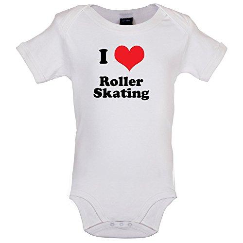 I Love Roller Skating - Lustiger Baby-Body - Weiß - 12 bis 18 Monate (Skate Roller Kunst)