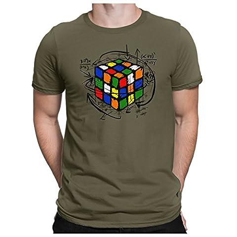 PAPAYANA - RUBIK-CUBE - T-Shirt Kurzarm - Big Bang Nerd Tbbt - , 5XL, oliv