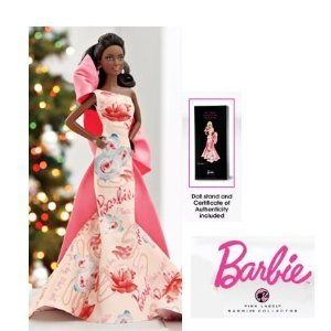 mattel-barbie-poupee-noire-africaine-avon-2010-rose-splendor-collection-collector-doll-pink-label
