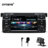 SWTNVIN Android 9 Auto Audio Stereo Headunit si adatta per BMW E46 DVD Player Radio 7 Pollici HD Touch Screen GPS Navigazione GPS con Bluetooth WIFI Steering Wheel Control 2GB-32GB