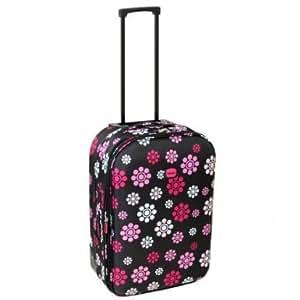 Karabar Guaranteed EasyJet Cabin Approved Expandable Suitcase (Daisy Black)