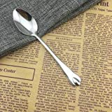 New 20Pcs Stainless Steel Dinner Spoons Water Drop Teaspoon Coffee Milk Soup Dessert Tableware Kitchen Cutlery -42