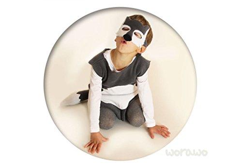 Wolf Kostüm Boy - Kinderkostüm Wolf mit Maske
