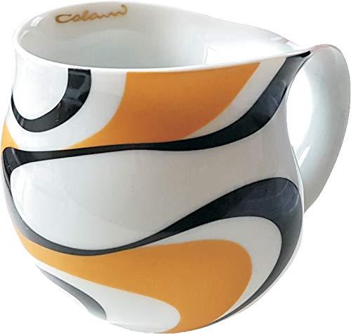 Luigi Colani dekorierte Kaffeetasse Becher Tasse Cappuccinotasse Kaffeebecher Wave Gold & schwarz...