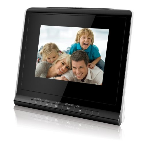 Coby 3.5-Inch Digital Photo Frame with Alarm Clock