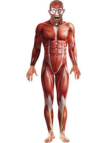 Körperwelten Kostüm - Halloweenia - Herren Männer Muskel