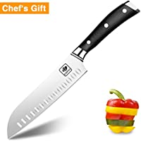 Chef Knife Santoku Knife German High Carbon Stainless Steel Kitchen Knife with Ergonomic G10 Glass Fiber Handle