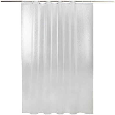 JIAO Tende da doccia La tenda della doccia frega del bagno frega doccia la tenda di plastica della doccia PEVA include il gancio IT (Colore : Pulire, dimensioni : 220x200cm) 708c75