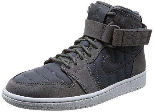 Nike Herren Air Jordan 1 High Strap Basketballschuhe, Schwarz (Dark Greydark Greypure Platinum), 41 EU