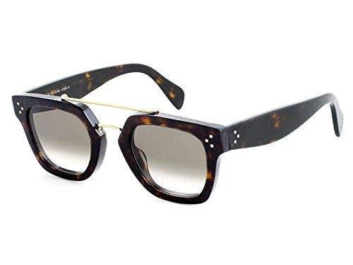 Celine 41077 Dark Tortoise / Brown Gradient Kunststoffgestell Sonnenbrillen