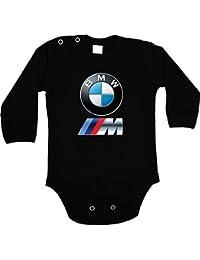 b7656d53433 BMW M-Power Body bébé Unisexe Noir Manche Longue garçon Fille Autocollants  ...