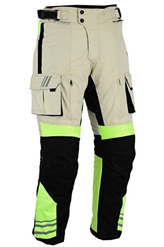 BIKERS GEAR pantalones blindados CE 1621–1, alta visibilidad, uk42s-eu52s