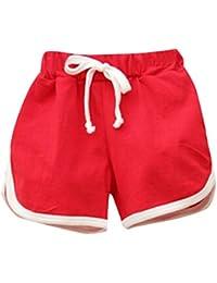 338f0a9a99d1df Kinder Shorts FORH Mädchen Jungen Candy Sommer Strand Hosen Pumphose Shorts  Casual Elastische Kurze Hosen Mode Sommerhose…