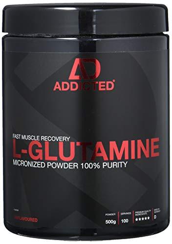 L-GLUTAMINE von ADDICTED® • 100{616f83355dcfd4f36114a0eb75c2c072e97168c4bce75573440c91e3779eeaf6} L-Glutamin Pulver hochdosiert | Geschmacksneutral | Unflavoured • Aminosäure für Muskelerhalt und schnellere Regeneration • Für Kraftsport und Bodybuilding