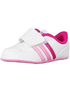 adidas V Jog Crib - Zapatillas deportivaspara niños, Blanco - (FTWBLA/ROSFUE/ROSSEN), 19
