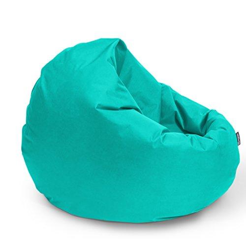 BuBiBag Sitzsack 2-in1 Funktionen mit Füllung Sitzkissen Bodenkissen Kissen Sessel BeanBag (100cm...