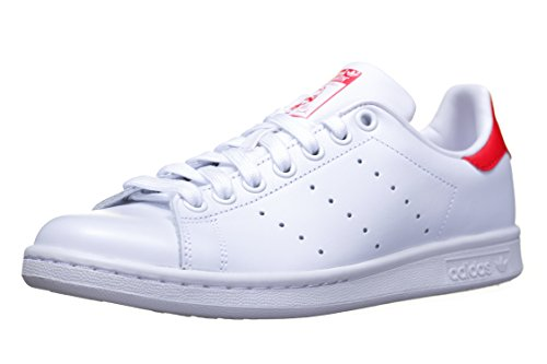 Adidas Originals Scarpe Stan Smith Bianco Rosso Continuativa 44 Bianco Rosso