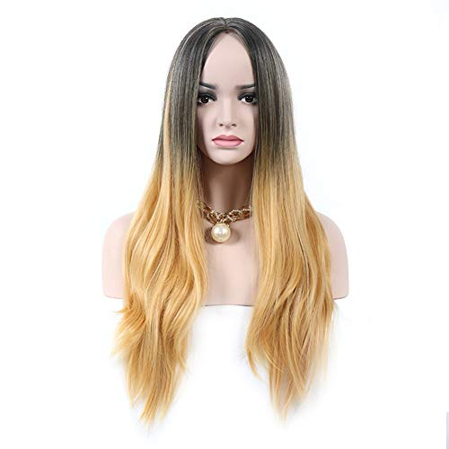 (Damen Perücke Blond Lang Gerade Frauen Haar Wig Für Karneval Oder Cosplay Party, Fasching Kostüm 68Cm/27Inch)