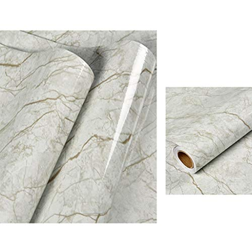 Preisvergleich Produktbild YNFNGXU Marmortapete 60x100CM Granit Selbstklebende Tapeten Peeling Paste PVC wasserdichte dekorative Küchenarbeitsplatte (Color : 01)
