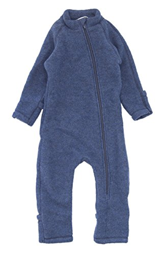 mikk-line Unisex Baby Spieler 50005, Blau (Melange Tahiti 276), 80