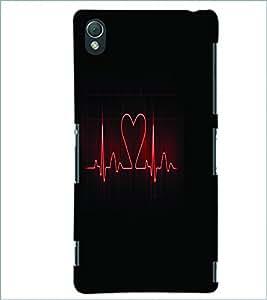 PRINTSWAG HEART BEAT Designer Back Cover Case for SONY XPERIA Z3