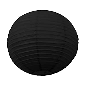 Tim & Puce 502111M - Farolillos japoneses (35 cm), Color Negro