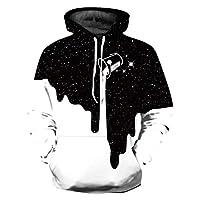 CAMLAKEE Boys Girls 3D Print Hoodies Long Sleeve Pocket Sweatshirt Pullover, 1, 8-11 Years